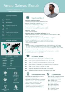 CV Arnau Dalmau - Traductor y maquetador en alemán, inglés, catalán y español